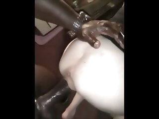 big cock interracial Black Monster destroy small Cunt