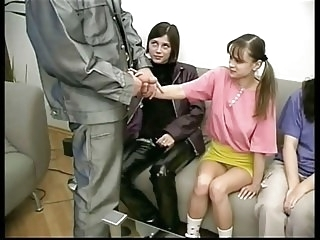 teens hardcore 2 man& experienced cutie made lesson at 2 innocent Virgins