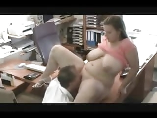 german bbw girl with huge tits  get fucked in office