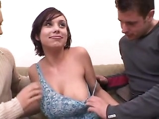 big tits brunette double penetration For Large-Titted Jane