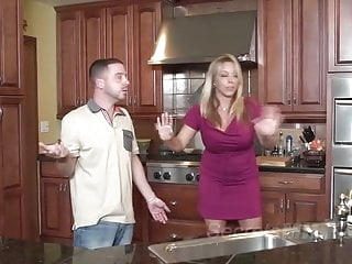 hardcore blonde Bad Mommie Amber Bach Gets Gets Some Deep Dicking