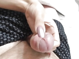 cumshots amateur Clear Purple Nails Handjob