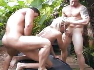 blowjobs blondes Skinny blonde fucks 2 guys outdoor