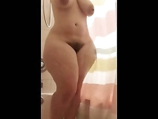 showers bbw PAWG bathing